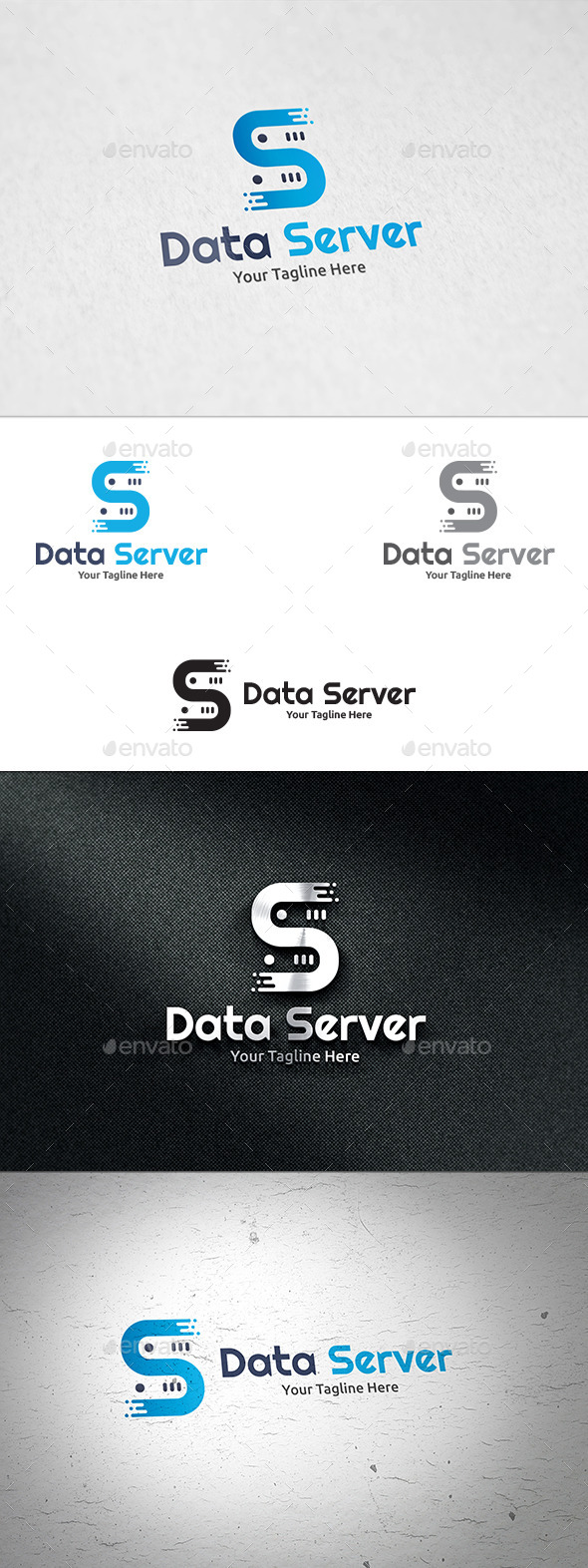 GraphicRiver Data Server Logo Template 11186887