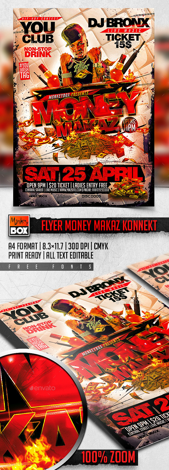 GraphicRiver Flyer Money Makaz Konnekt 11187307