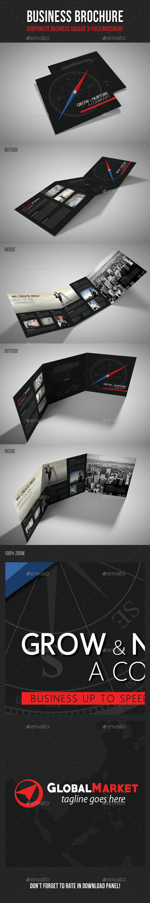 GraphicRiver Corporate Business Square 3-Fold Brochure V01 11187645