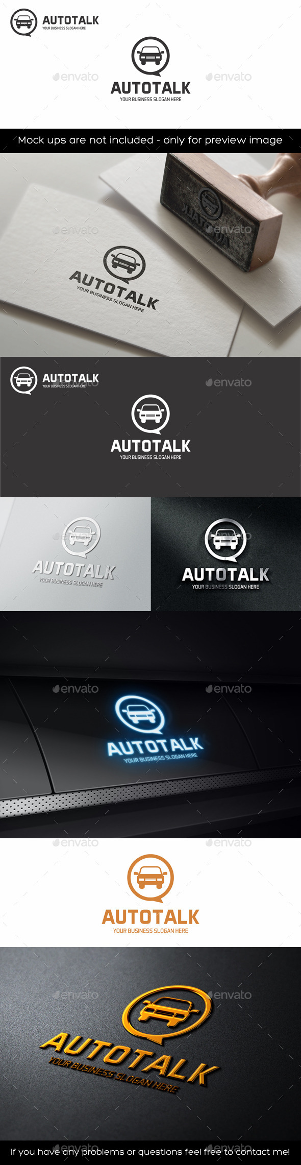 GraphicRiver Auto Talk Logo 11187704