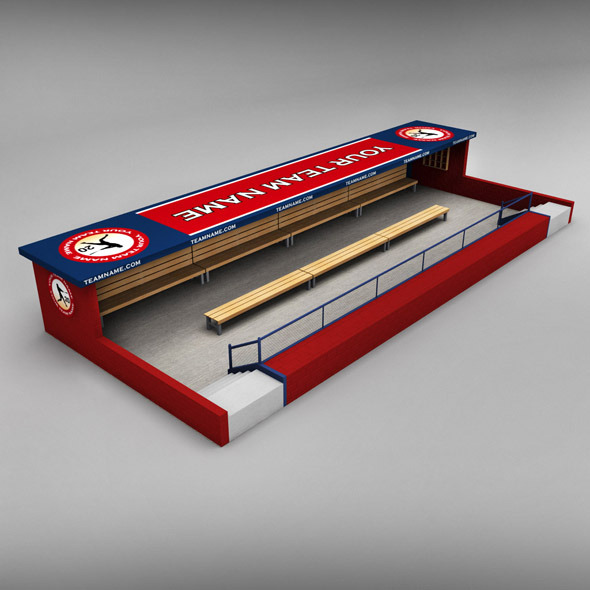 Baseball stadium dugout - 3DOcean Item for Sale
