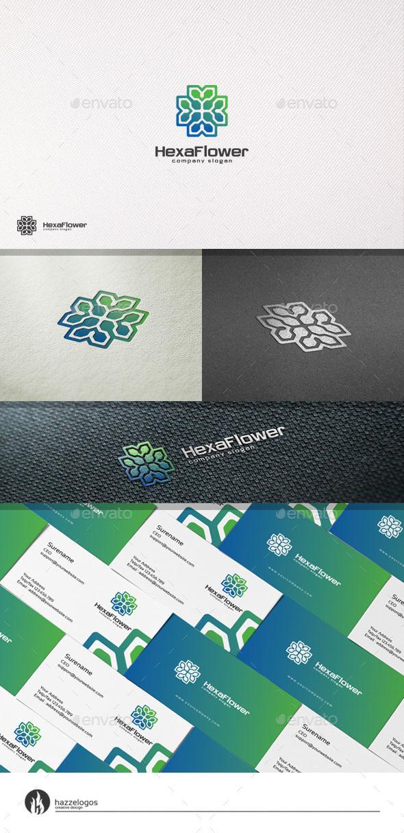 GraphicRiver Hexa Flower Logo 11188446