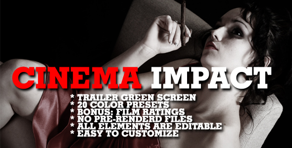 After Effects Project - VideoHive Cinema impact Color presets 138352