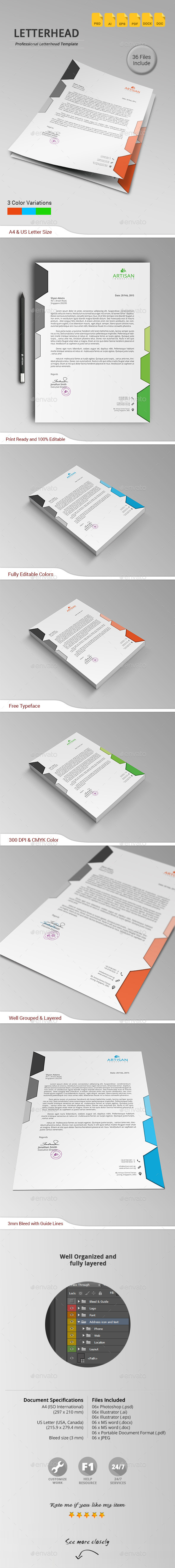 GraphicRiver Letterhead 11189933