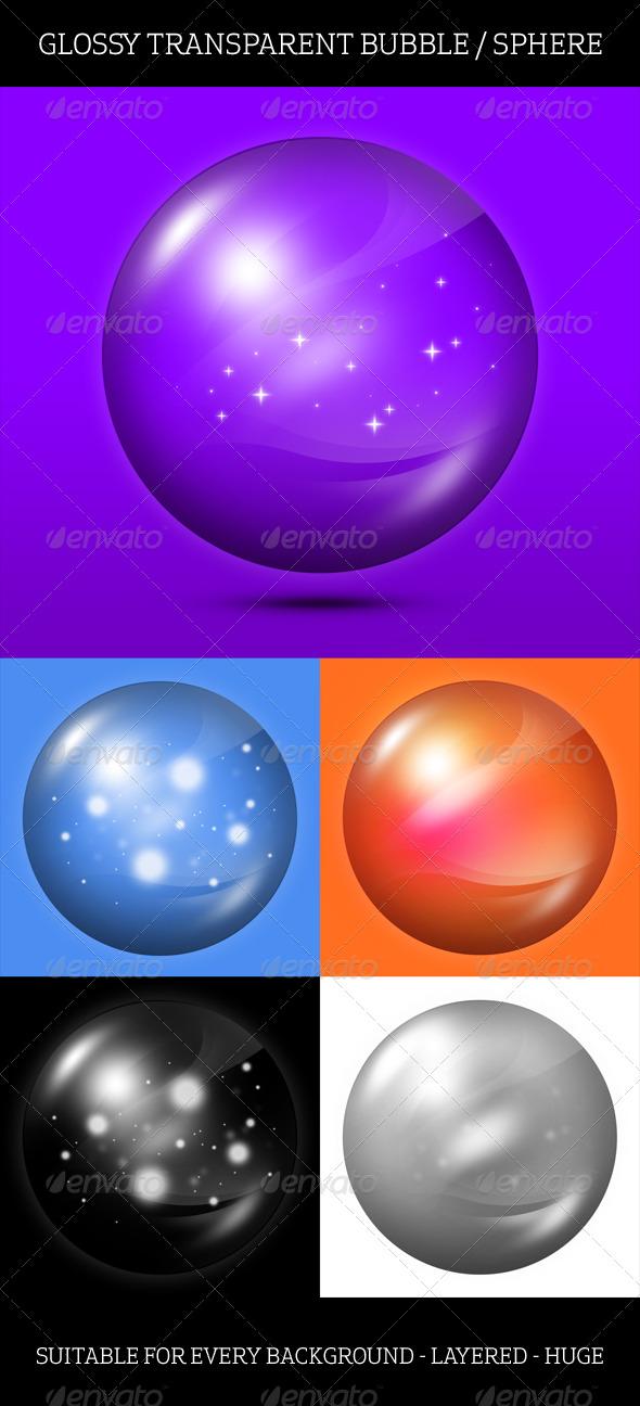 Transparent Bubble Sphere