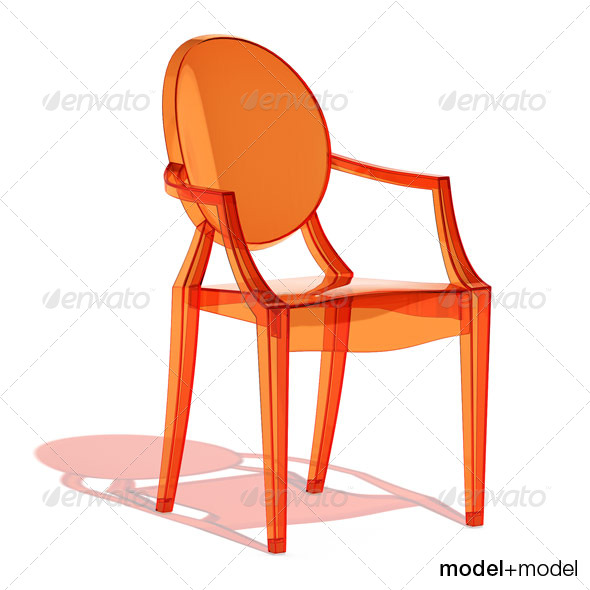 Kartell Louis Ghost armchair - 3DOcean Item for Sale