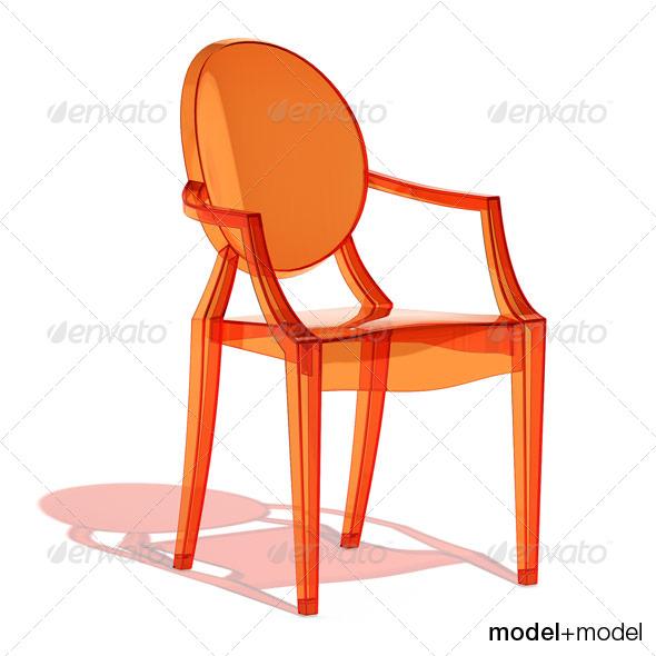 Kartell Louis Ghost armchair - 3DOcean Item for Sale