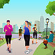 Women Running in a Park - GraphicRiver Item for Sale