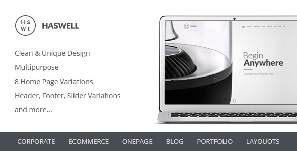 ThemeForest Haswell Multipurpose PSD Template 11176330