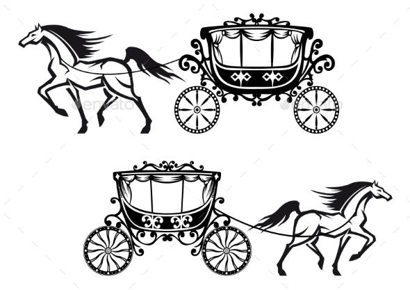 GraphicRiver Antique Decorated Carriages with Horses 11190556