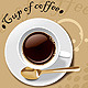 Vector Cup of Coffee with Stain - GraphicRiver Item for Sale