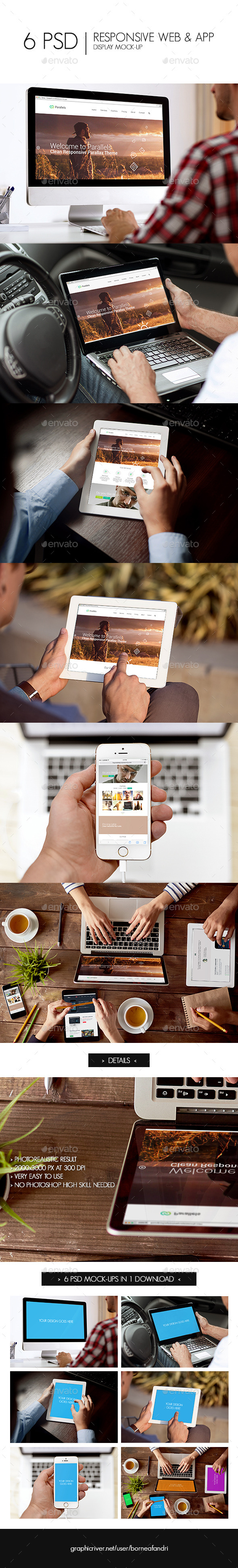 GraphicRiver Responsive Web & App Display Mock-Up 11190848