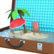 Mini Island Inside Suitcase 3D - GraphicRiver Item for Sale