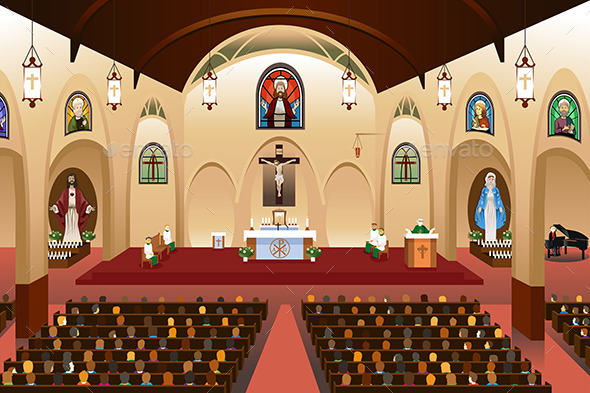 GraphicRiver Pastor Giving a Sermon at a Church 11192351