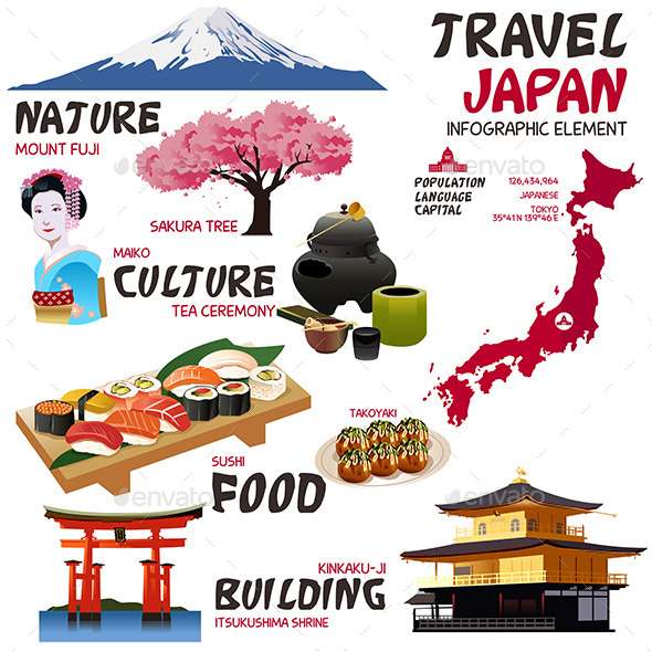 GraphicRiver Infographic Elements for Japan 11192377