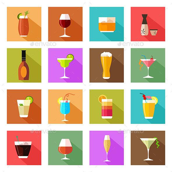 GraphicRiver Drinks Symbols 11192392