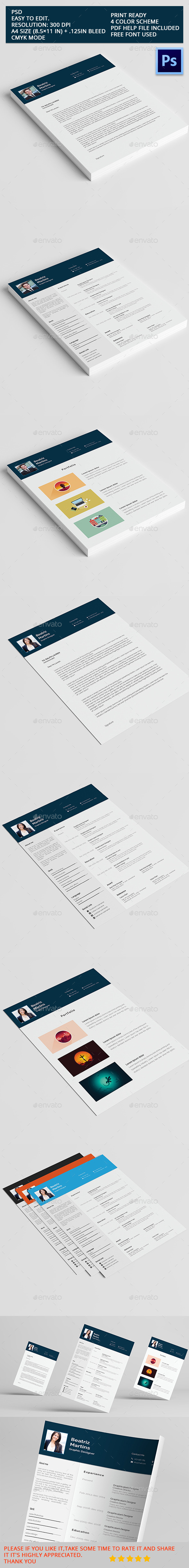 GraphicRiver Resumes Templates 11147529