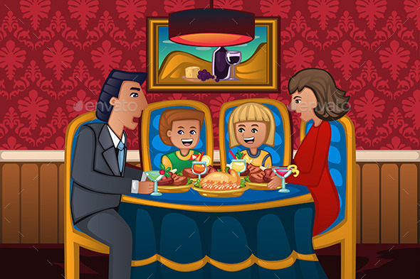 GraphicRiver Family Eating Dinner Together 11192561
