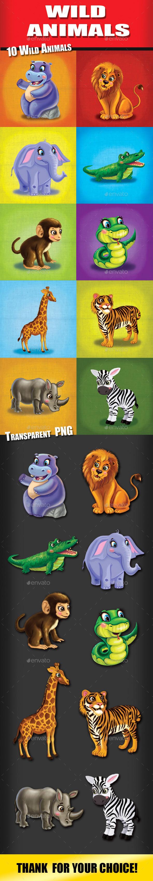 GraphicRiver Wild Animals 11192609