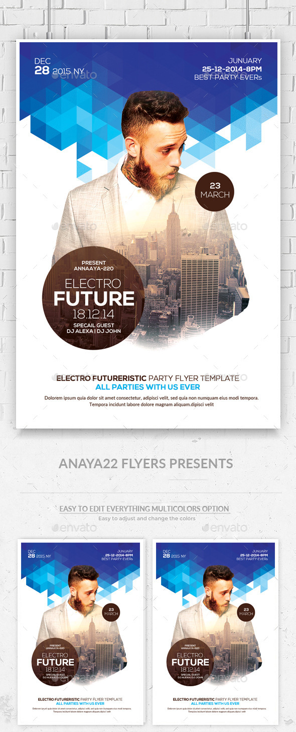 GraphicRiver Futuristic Flyer Psd Templates 11193423