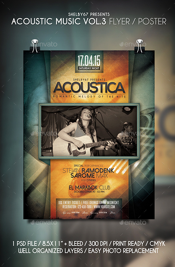 GraphicRiver Acoustic Music Flyer Poster Vol.3 11193522