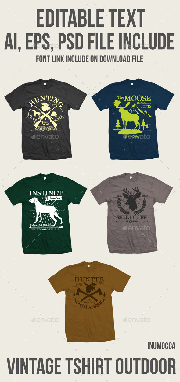 GraphicRiver 5 vintage tshirt Outdoor 11126327