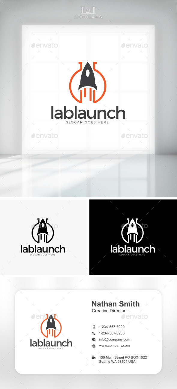 GraphicRiver Lab Launch Logo 11194077