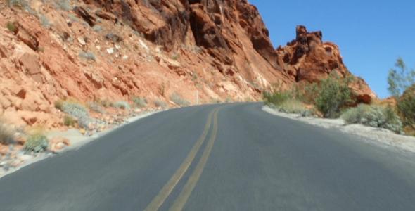 Road Between Rocks