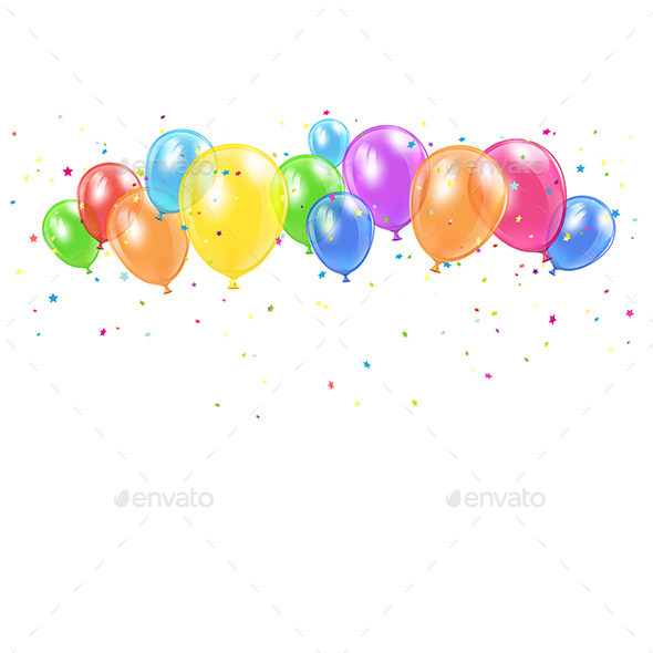 GraphicRiver Holiday Balloons and Confetti 11194196