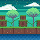 Nature Pixel Art Game Background