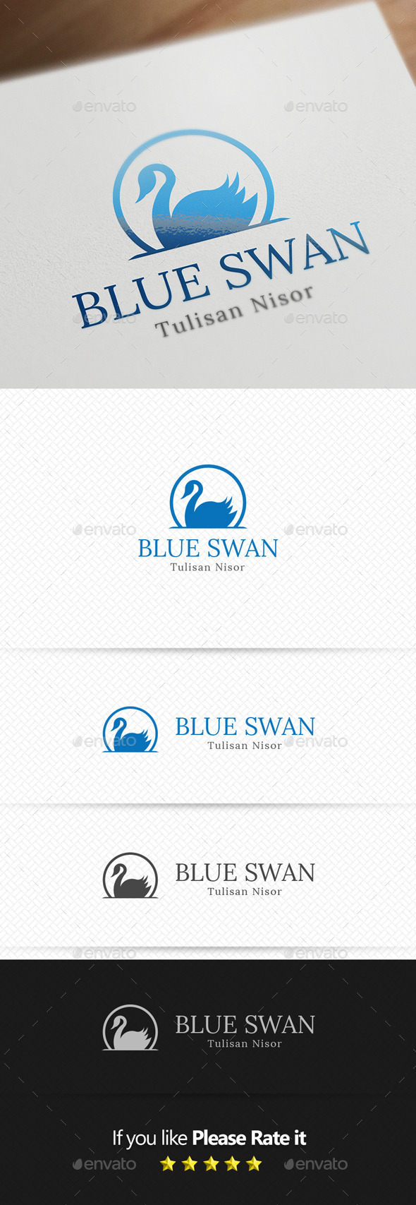 GraphicRiver Swan Logo Template 11194413