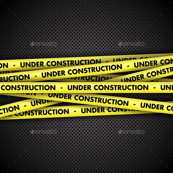 GraphicRiver Under Construction Tape Background 11194414