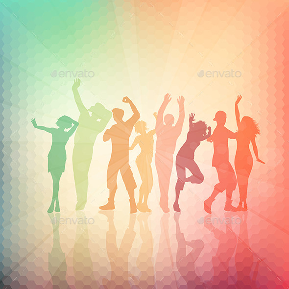 GraphicRiver Party People Background 11194445