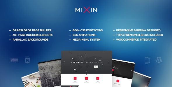 Mixin - Infographic WordPress Theme