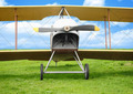 Old vintage airplane on green grass - PhotoDune Item for Sale