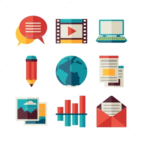 GraphicRiver Media and Communication Icons 11194705