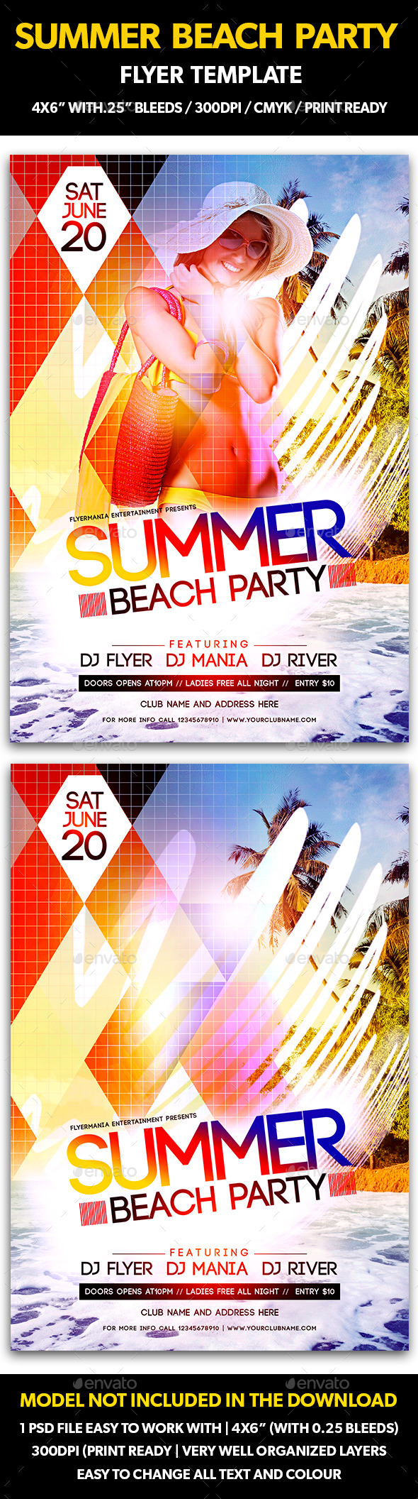 GraphicRiver Summer Beach Party Flyer Template 11195543