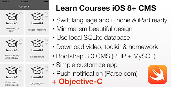 CodeCanyon LEARN Courses Mobile iOS 8 & CMS Swift and Objective-C projects 10939211