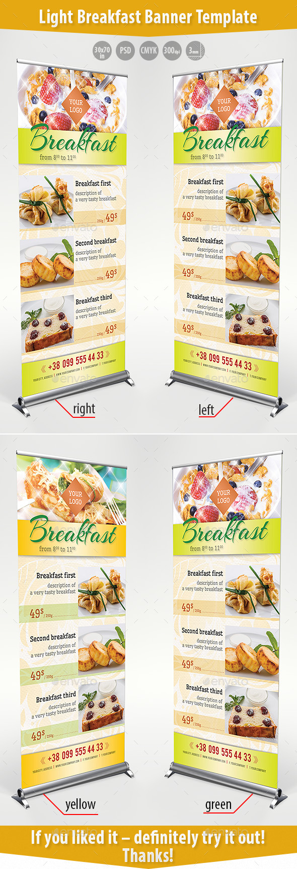 GraphicRiver Light Breakfast Banner Template 11139776