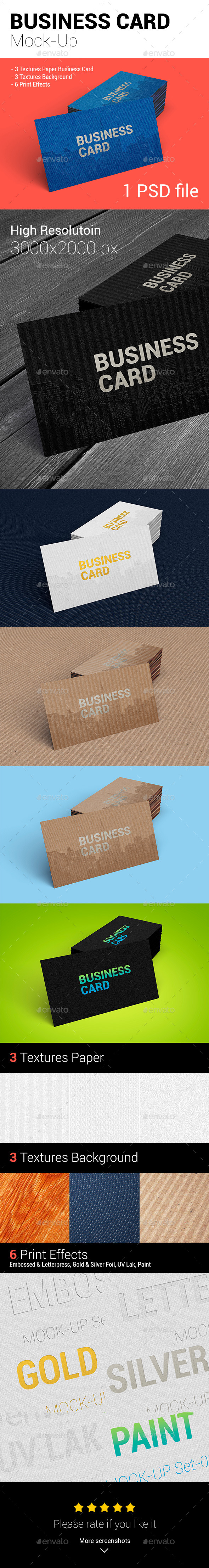 GraphicRiver Business Card Mock-UP 11171128