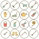 Set of Hand Drawn Icons with Garden Tools - GraphicRiver Item for Sale