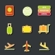 Set of cute colorful airport stickers - GraphicRiver Item for Sale