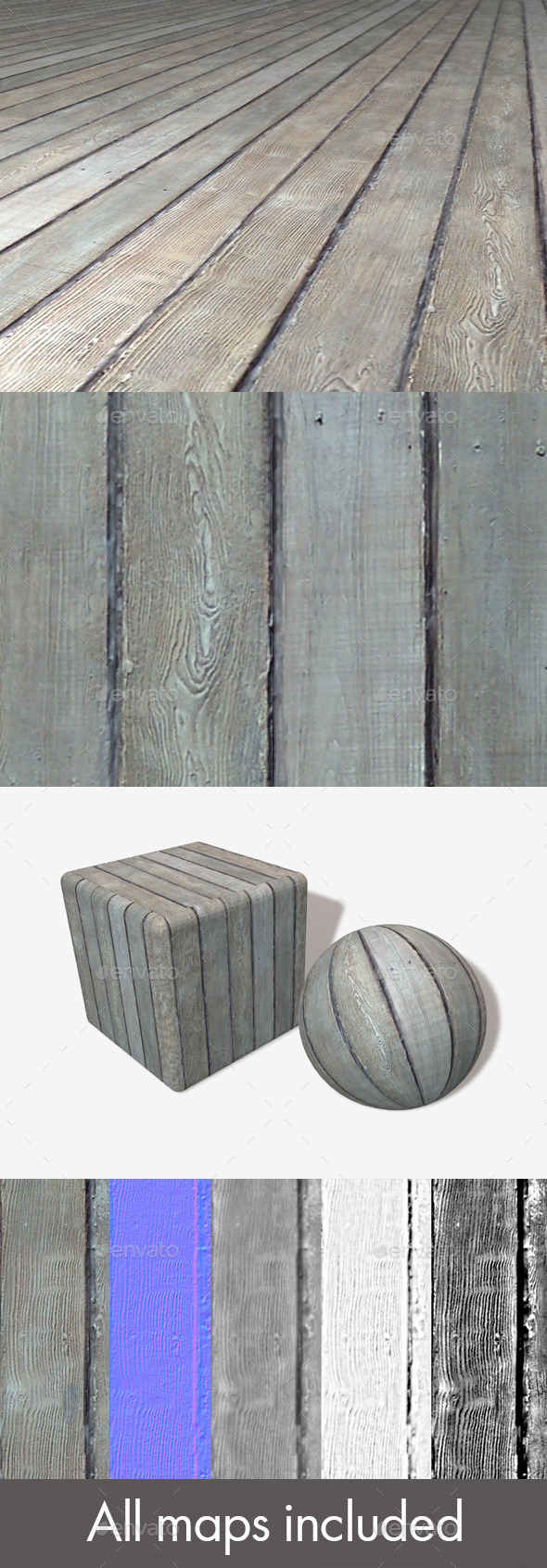 3DOcean Old Wooden Planks Seamless Texture 11195751