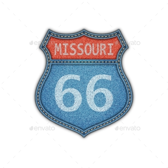 GraphicRiver Route 66 Road Sign 11195784