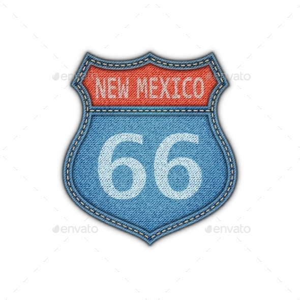 GraphicRiver Route 66 Road Sign 11195791