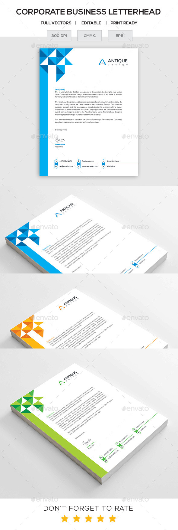 GraphicRiver Corporate Letterhead 11195812