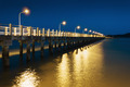 Pier on the sea at night - PhotoDune Item for Sale