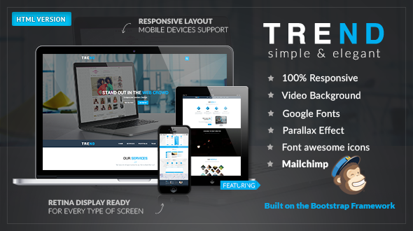ThemeForest TREND Multi-Purpose HTML Template 10252818