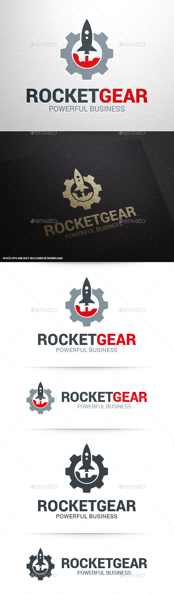 GraphicRiver Rocket Gear Logo Template v2 11196260