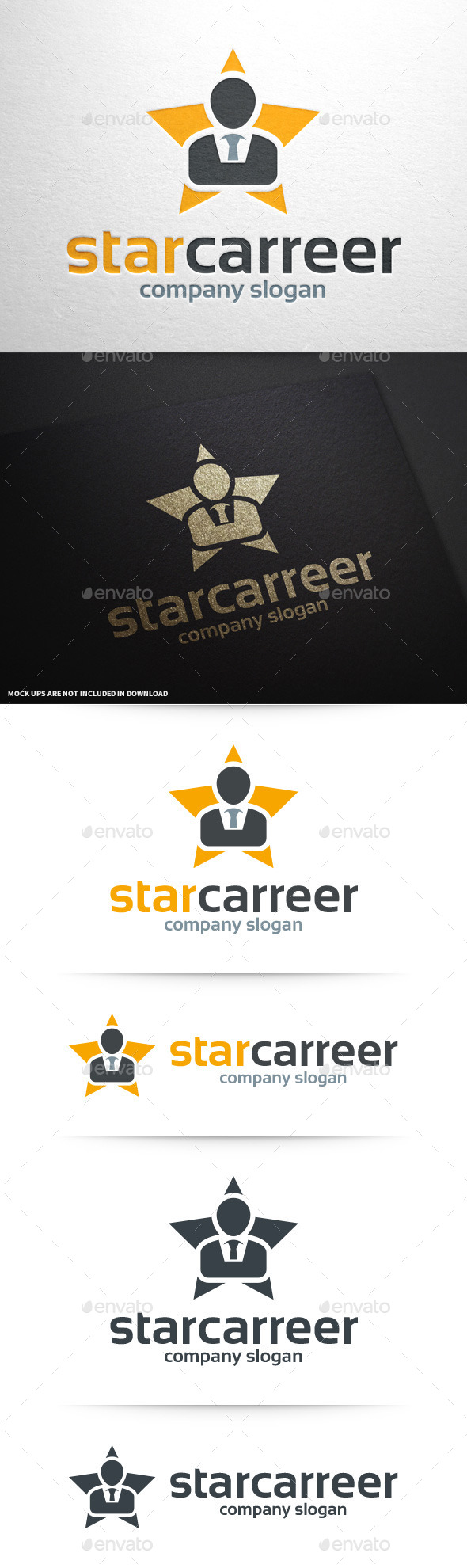 GraphicRiver Star Carreer Logo Template 11196325